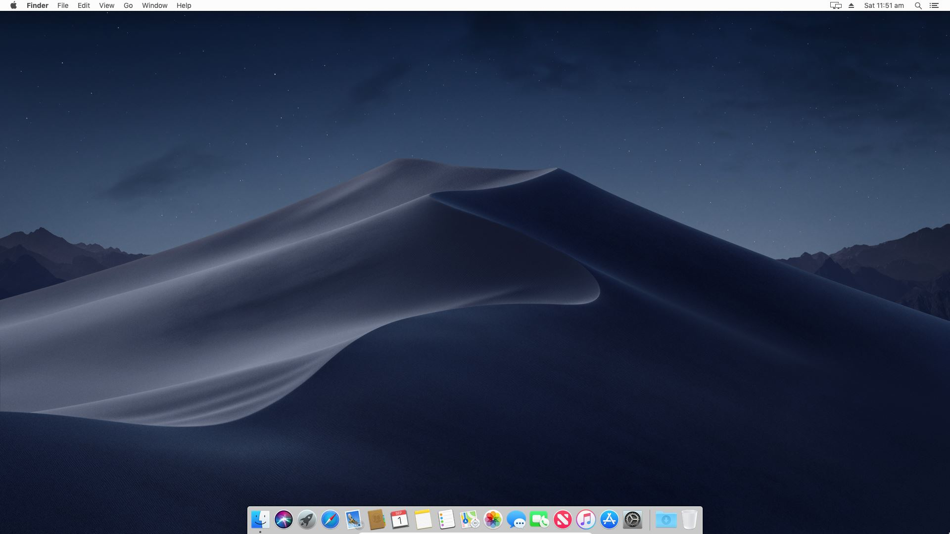 macOS Mojave Full Screen Resolution