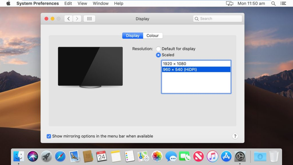 Fix macOS Mojave Screen Resolution(HiDPI) on VMware – Geekrar