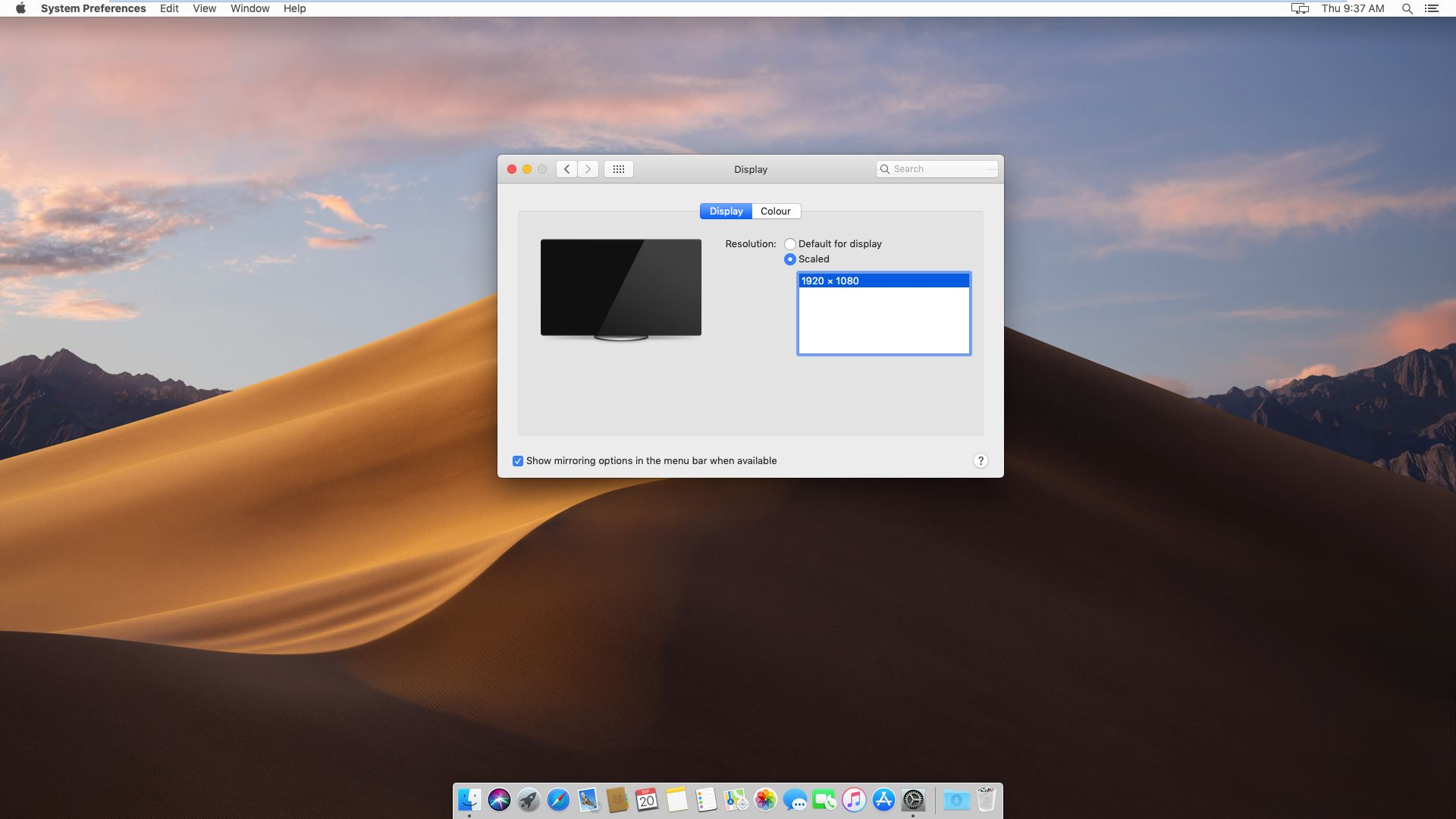 macOS Mojave - Display