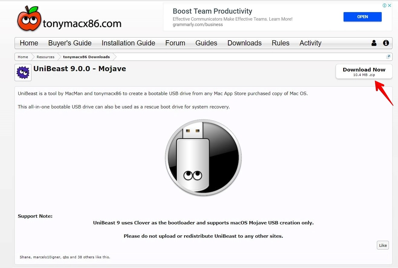 How to Create Bootable USB installer for macOS Mojave Windows
