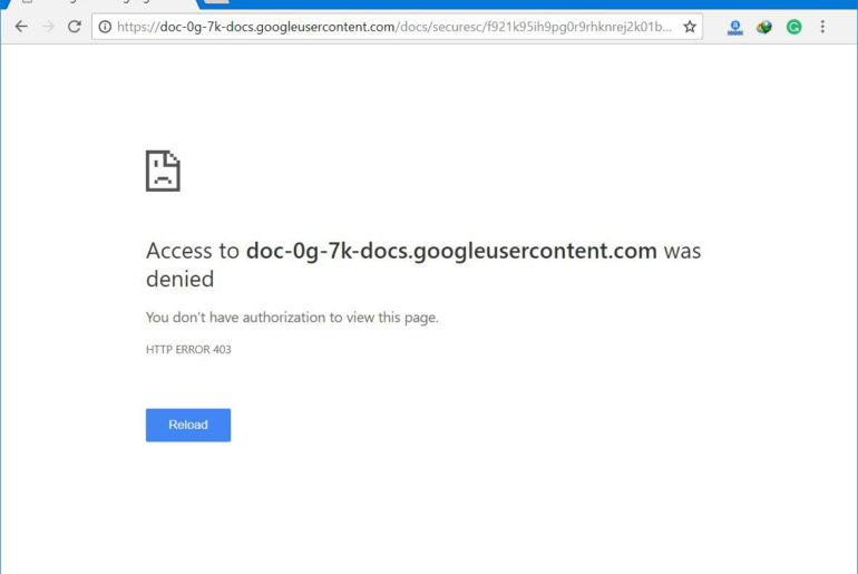 Fix Google Drive Authorization (HTTP 403) Error