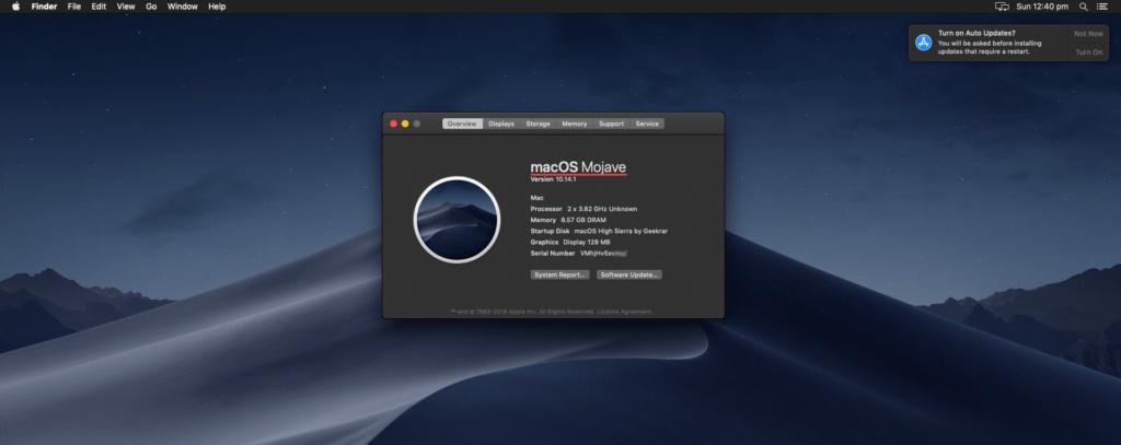 Upgrade macOS High Sierra to macOS Mojave on VMware & VirtualBox