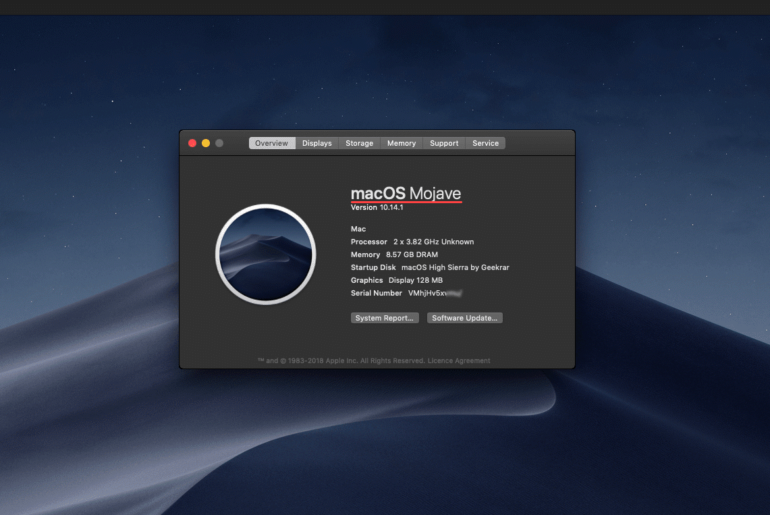 Upgrade to Mojave