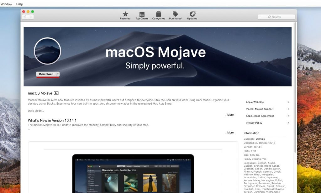 Upgrade macOS High Sierra to macOS Mojave on VMware