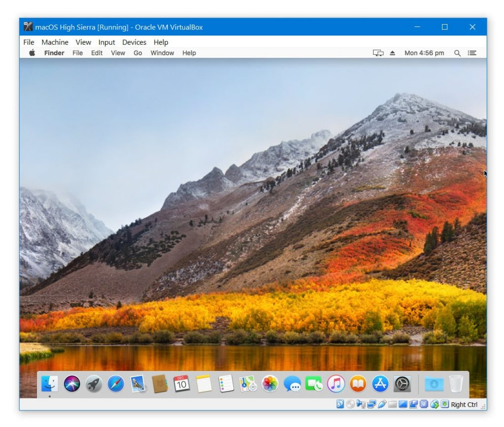 macOS High Sierra on VirtualBox