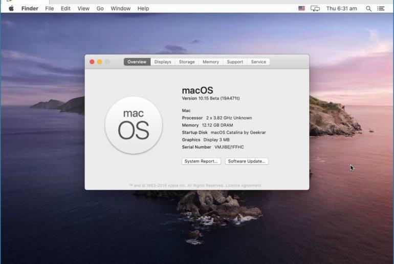 Update macOS Catalina