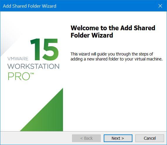 Add Shared Folder Wizard