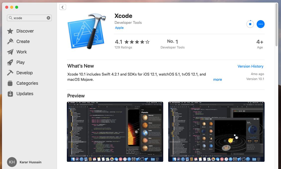 Dowloading Xcode
