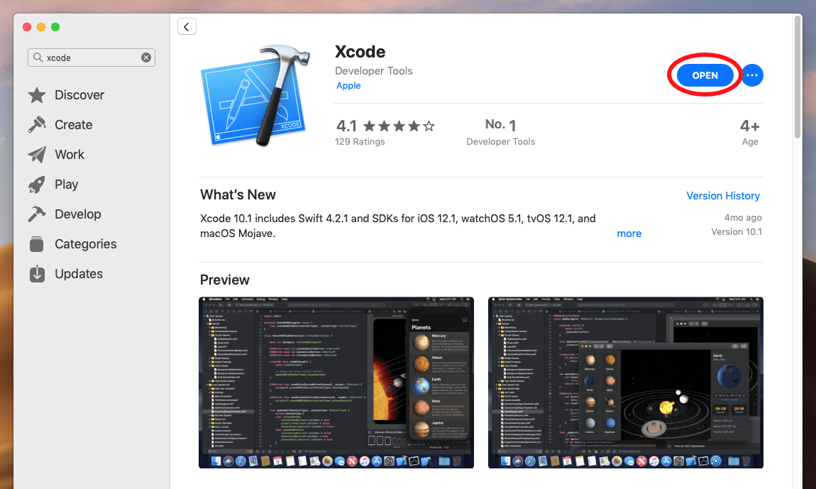 Xcode Downloaded