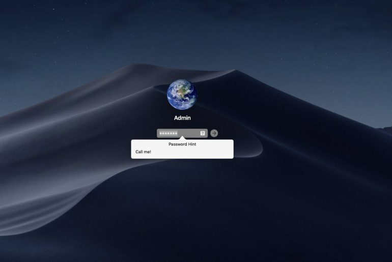 Reset Forgotten Password of macOS Mojave Virtual Machine