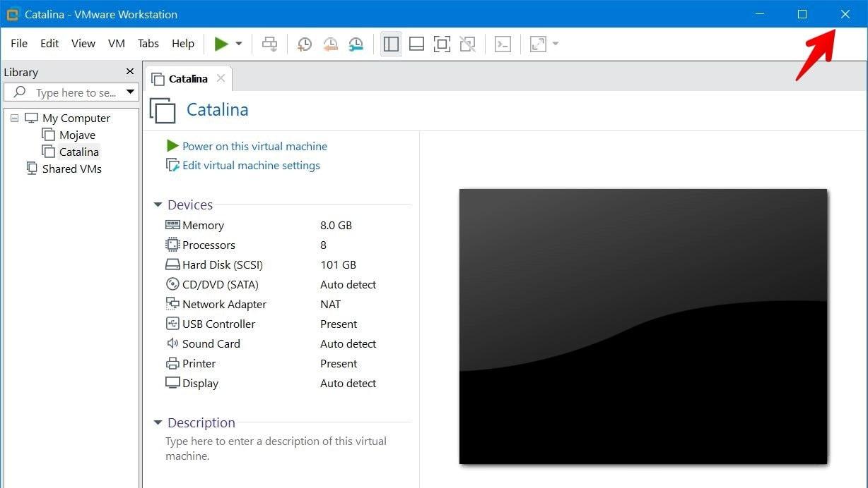 Close VMware