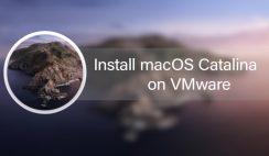 Install macOS Catalina on VMware on Windows PC