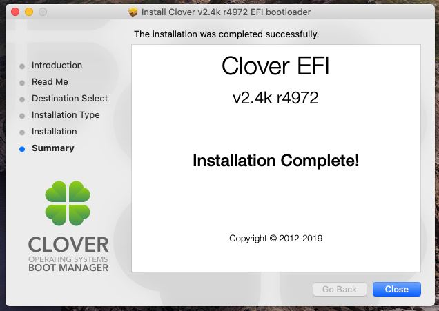 Clover Bootloader Installed