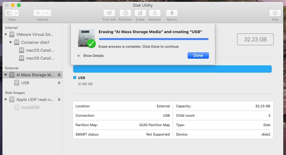 Create macOS Catalina Bootable USB Installer Windows
