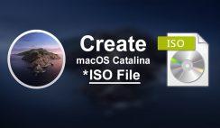 Create macOS Catalina ISO