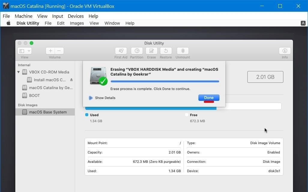 Install macOS Catalina on VirtualBox on Windows