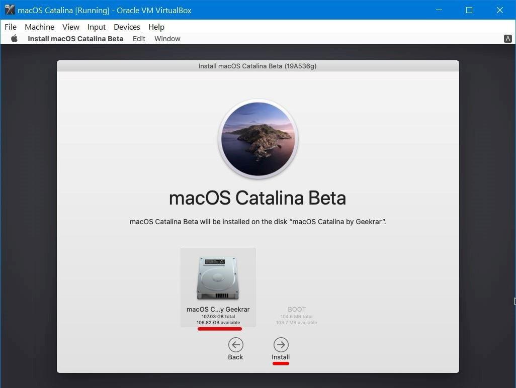 Install Catalina