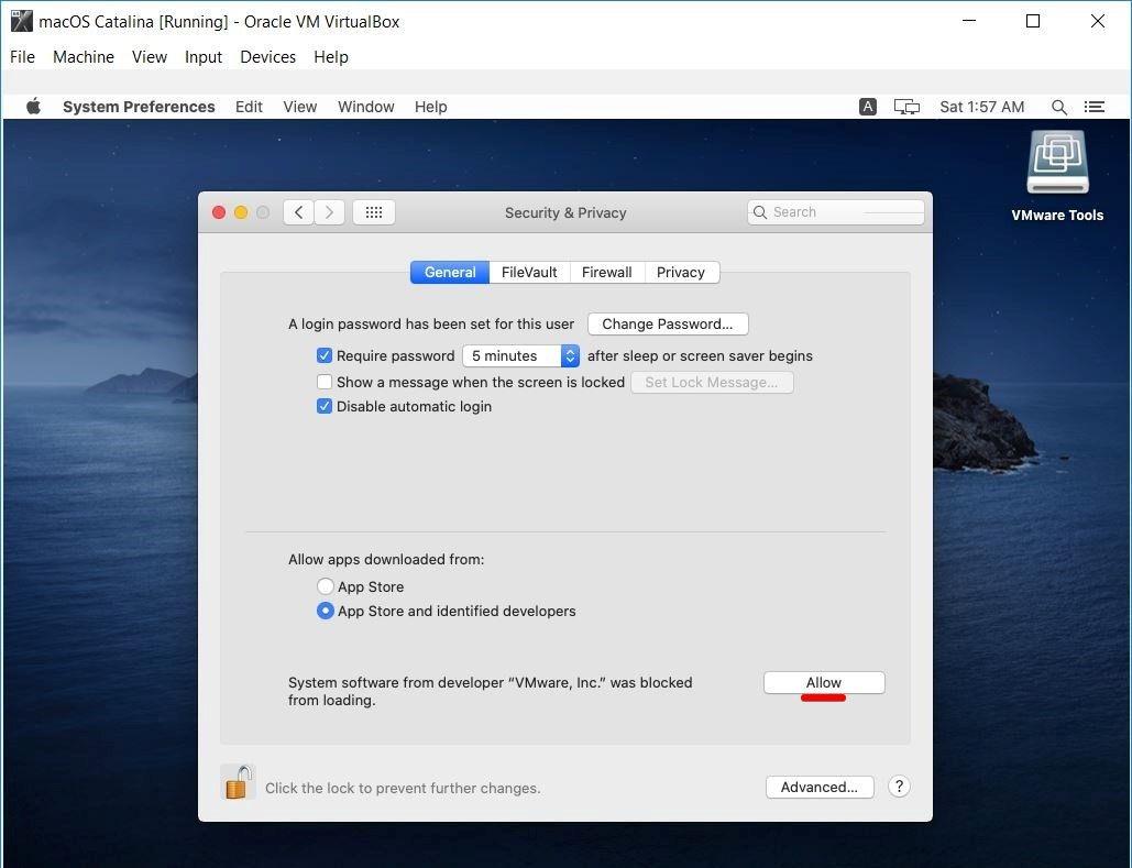 Allow VMware Inc