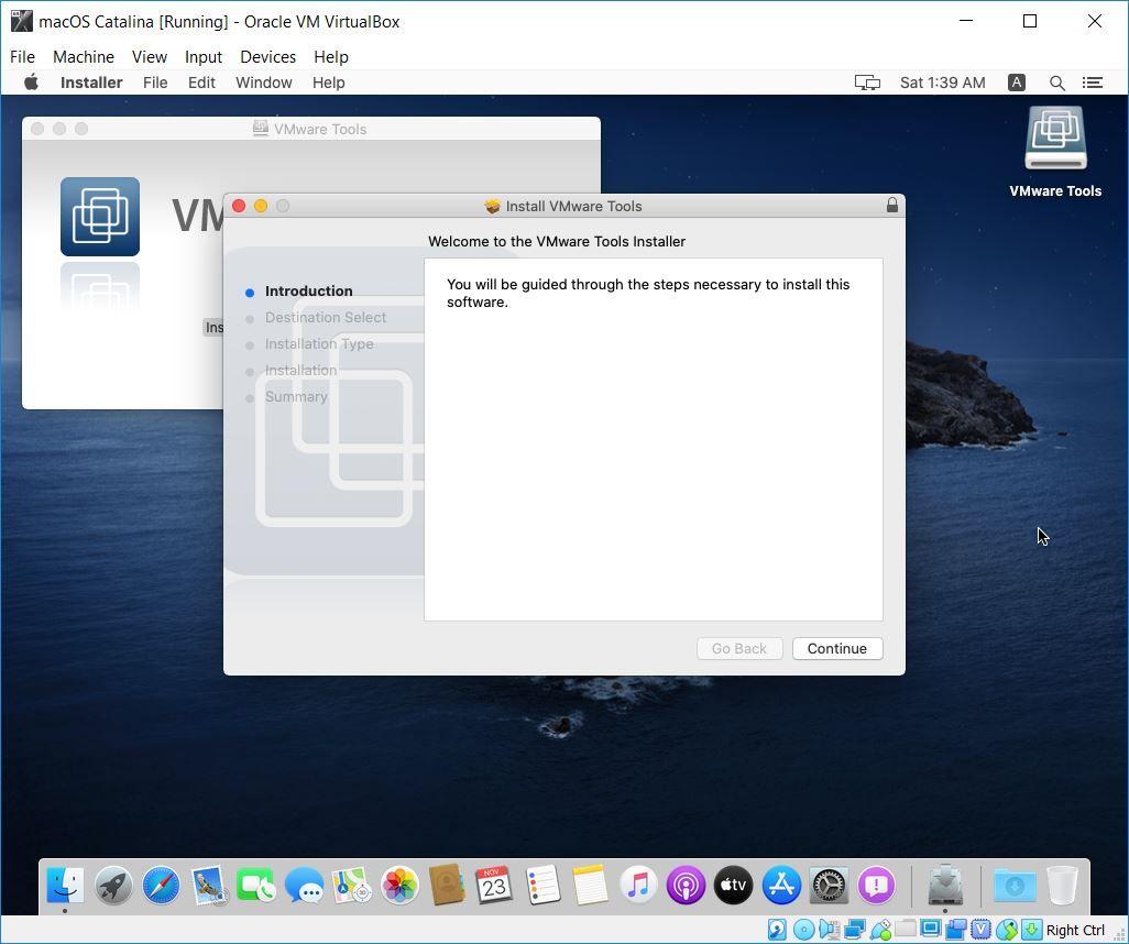 Install VMware Tools Wizard