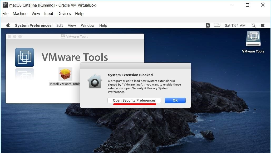 How to Install Guest Tool on macOS Catalina on VirtualBox