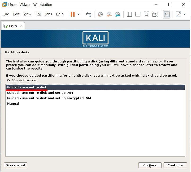 install kali linux on vmware VirtualBox on Windows