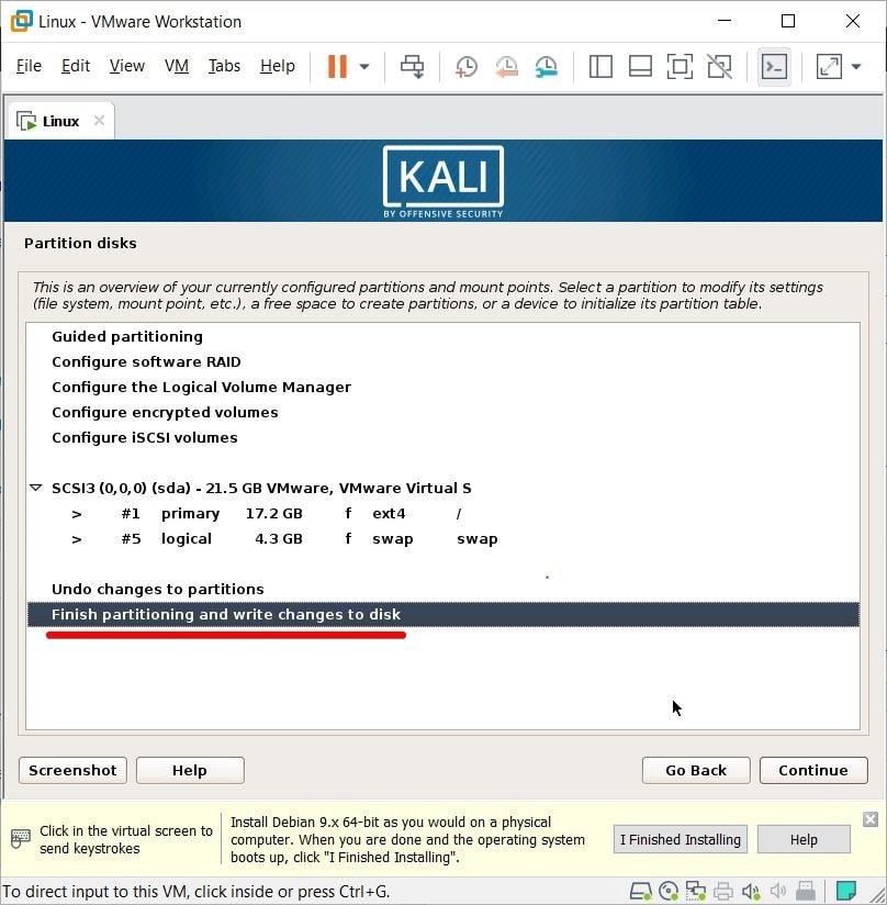 how to install Kali Linux on VMware or VirtualBox on Windows PC