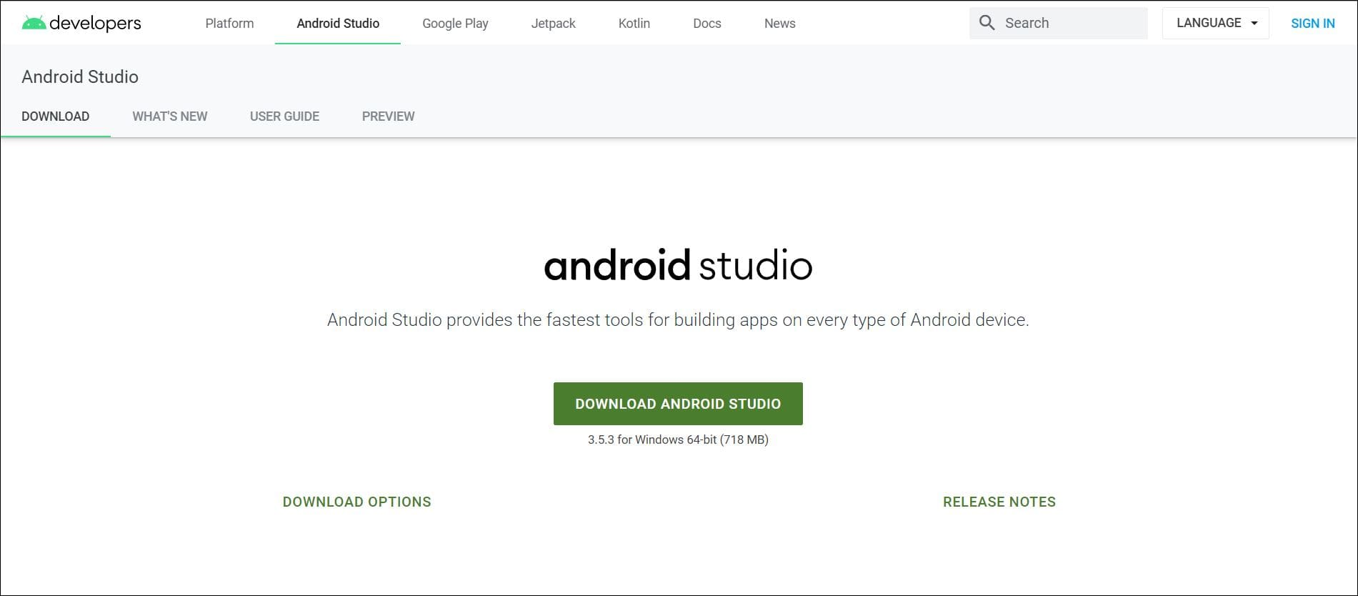 Download Android Studio