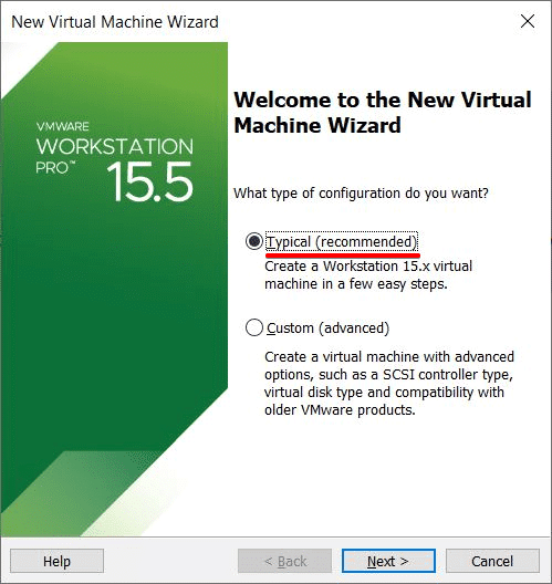 New Virtual Machine WizardNew Virtual Machine Wizard