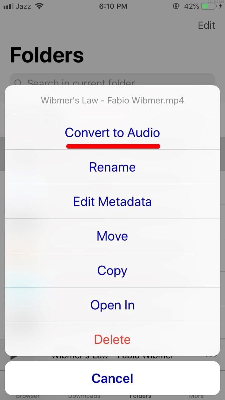 Convert to Audio
