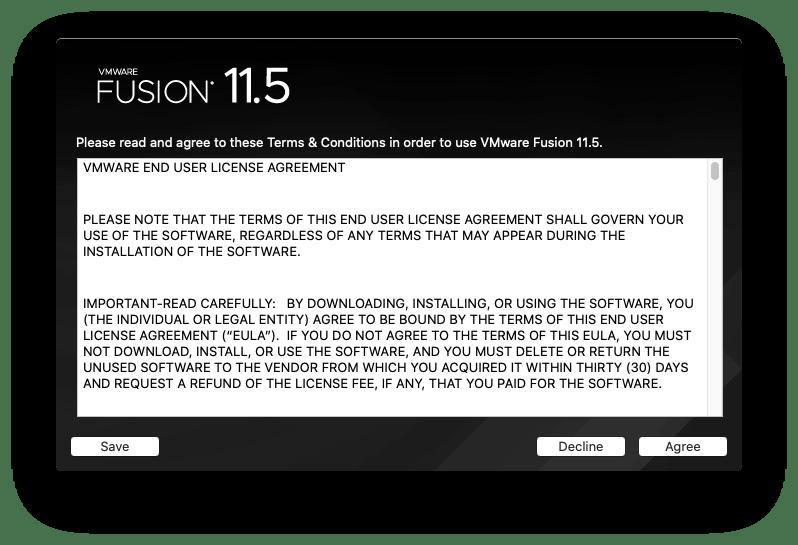 Install VMware Fusion