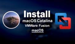 Install macOS Catalina on VMWare Fusion on macOS