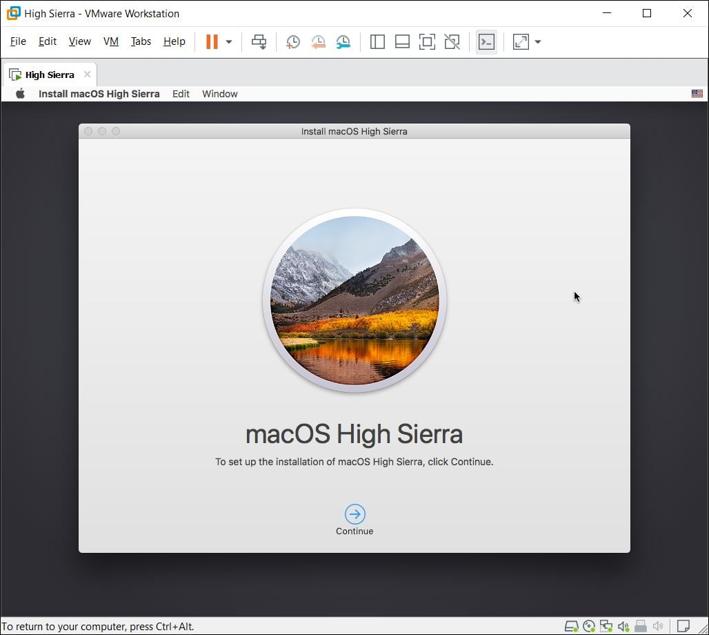 Install macOS High Sierra on VMware on Windows PC