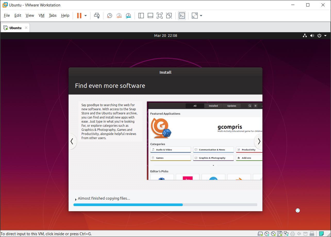 Install Ubuntu on VMware