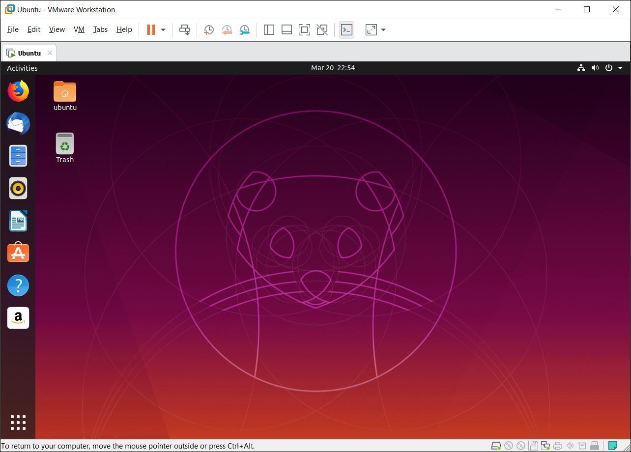 Ubuntu Desktop Screen