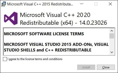 ReInstall VisualReinstall Microsoft Visual C++ Redistribution Package