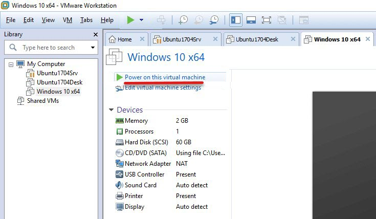 Install Windows 10 on VMware Workstation Pro