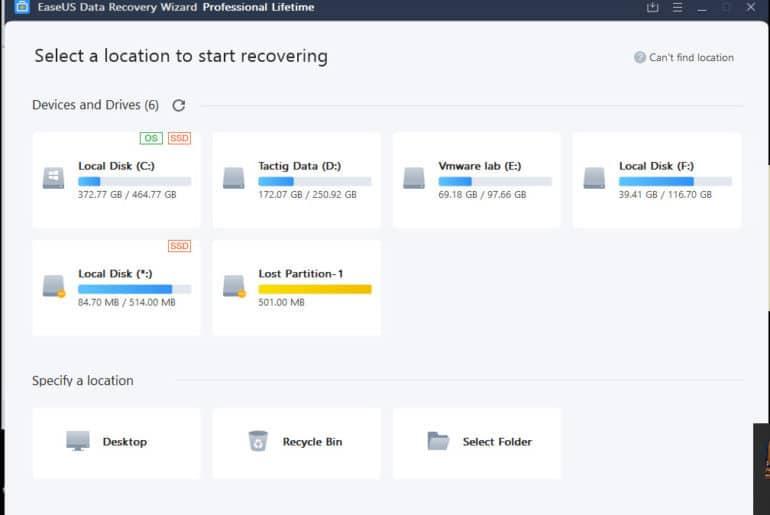 Easus Data Recovery
