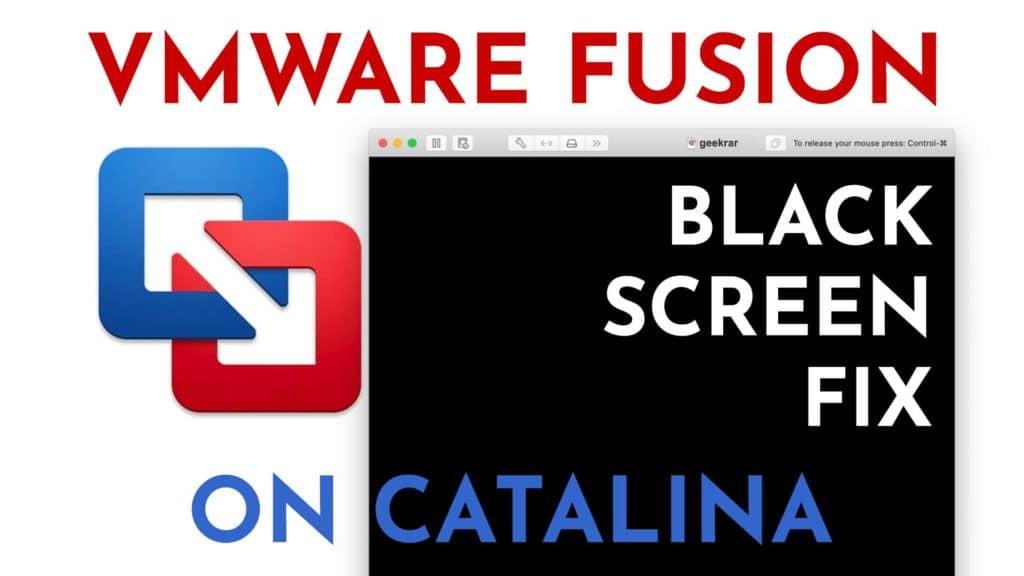 vmware fusion catalina black screen