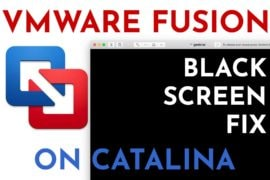 vmware fusion catalina black screen