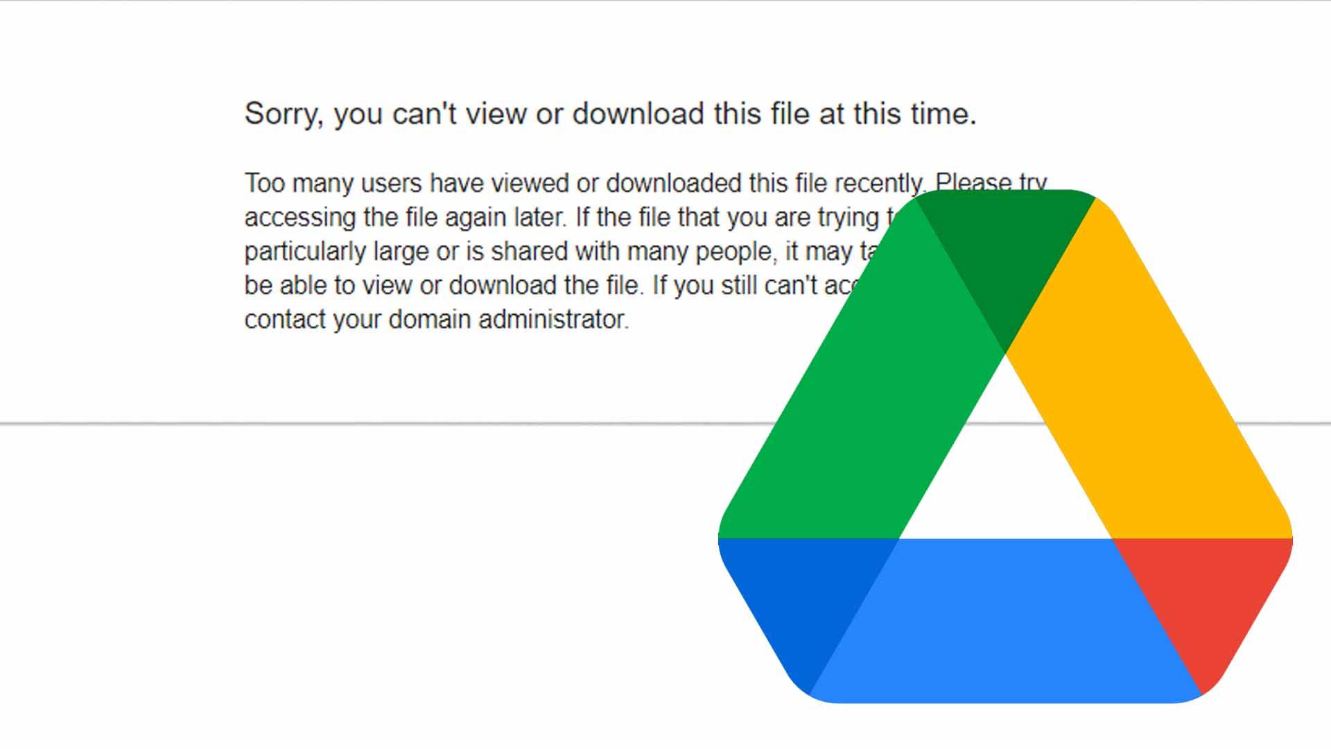 Fix Google Drive Download Limit Quota Exceeded Error Updated Method Geekrar