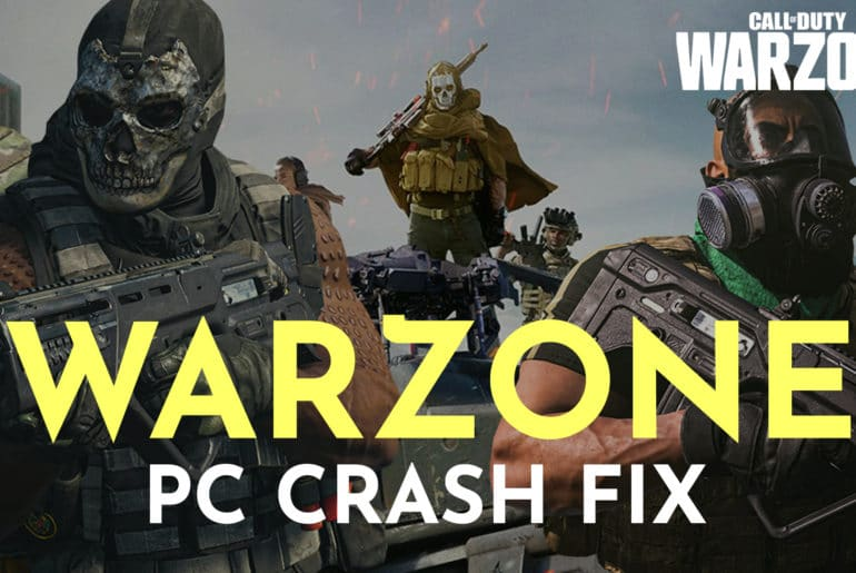call of duty warzone crashing pc